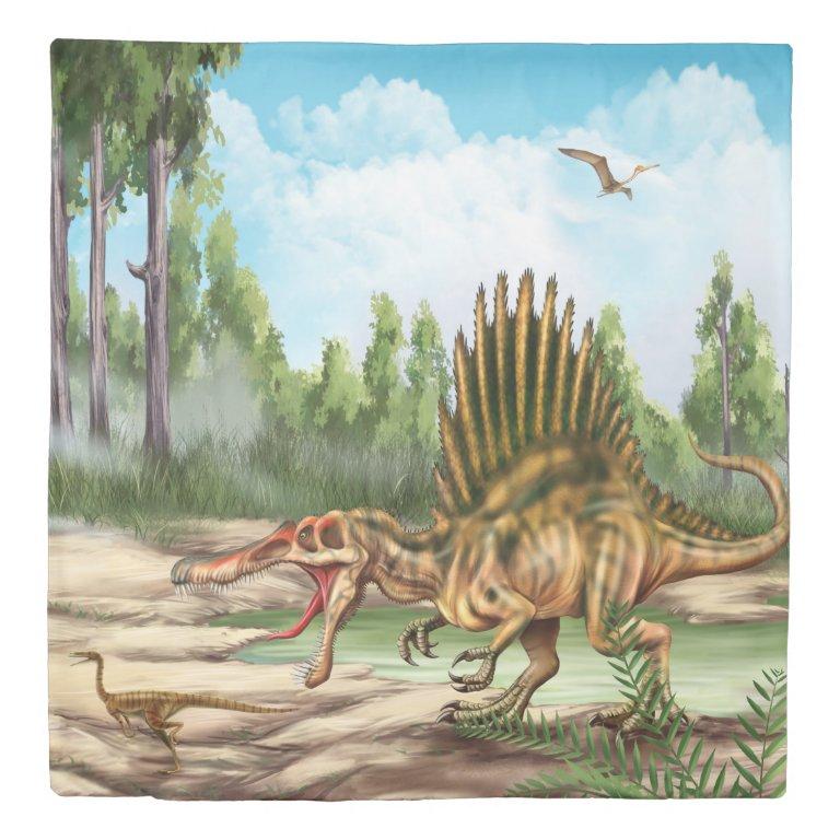 Dinosaur Species (2 sides) Queen Duvet Cover