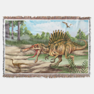 Dinosaur Species Woven Throw Blanket
