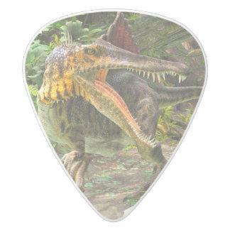 Dinosaur Spinosaurus White Delrin Guitar Pick