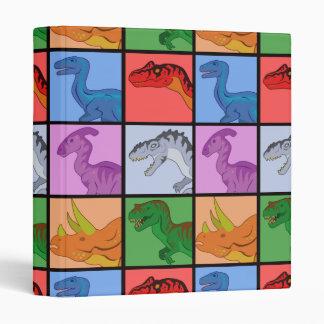 Dinosaur Squares Binder