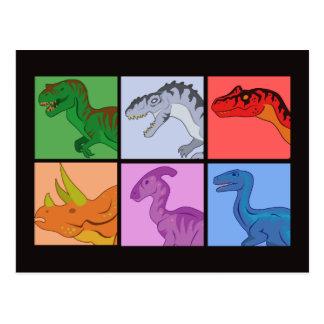 Dinosaur Squares Postcard