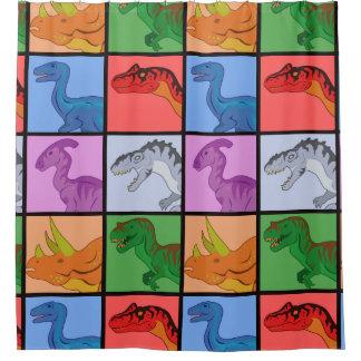 Dinosaur Squares Shower Curtain