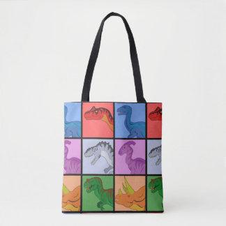 Dinosaur Squares Tote Bag