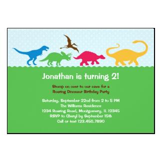 Dinosaur Stampede Birthday Party Invitation 5