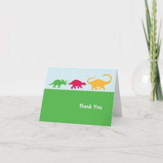 Dinosaur Stampede Thank You Card card