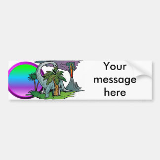 Dinosaur Sunset Bumper Sticker