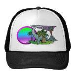 Dinosaur Sunset Mesh Hats