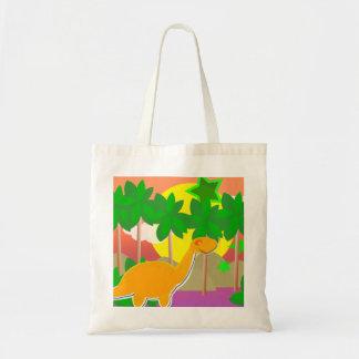 Dinosaur Sunset Tote Bag