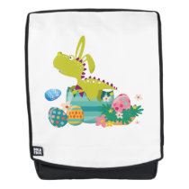 Dinosaur T-Rex Bunny Easter Egg Funny Gifts Backpack
