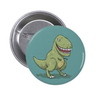 Dinosaur T Rex Cartoon Buttons