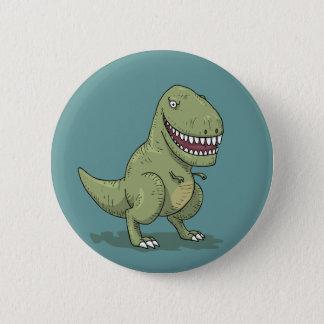 Dinosaur T Rex Cartoon Pinback Button