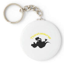 Dinosaur T-Rex Drinking Funny Beer Lovers Keychain