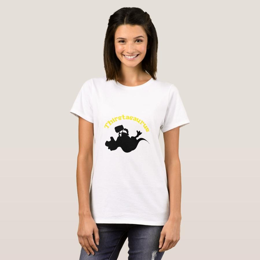 Dinosaur T-Rex Drinking Funny Beer Lovers T-Shirt - Best Selling Long-Sleeve Street Fashion Shirt Designs