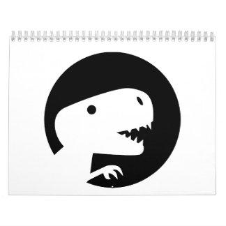 Dinosaur T-Rex moon Calendar