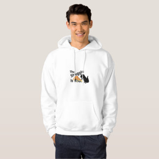 dinosaur T Rex The Struggl Is Real Pizza Funny Hoodie