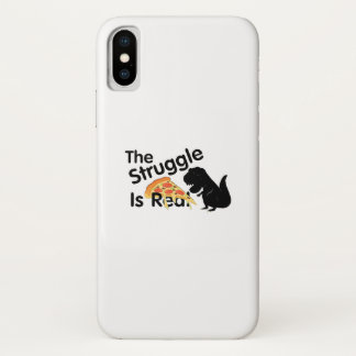 dinosaur T Rex The Struggl Is Real Pizza Funny iPhone X Case