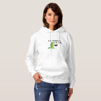 dinosaur T Rex The Struggl Is Real Wine Funny Hoodie