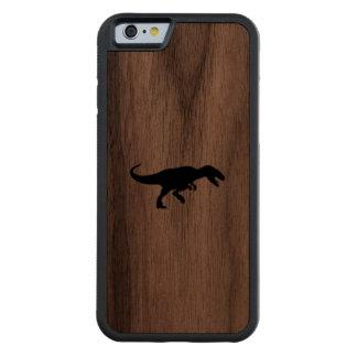 Dinosaur T-Rex Tyrannosaurus Rex Black Silhouette Carved® Walnut iPhone 6 Bumper