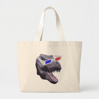 Dinosaur t-shirts large tote bag
