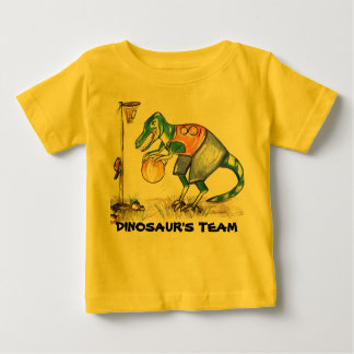Dinosaur team baby one piece outfit tshirts