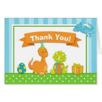 Dinosaur Thank You Card Folded Note Card