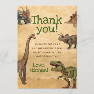 Dinosaur Thank You Cards, Thank you notes