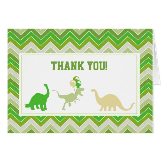 Dinosaur Thank You Note Cards Zazzle