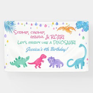 Dinosaur Theme Party Banner