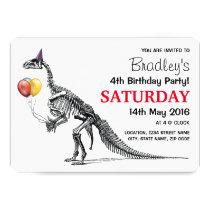Dinosaur themed Birthday Party Invitation
