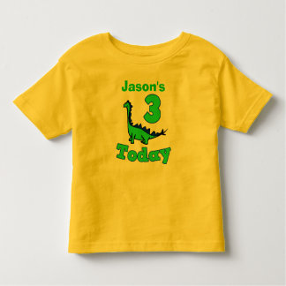Dinosaur Third Birthday Boy Shirt