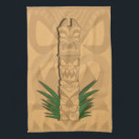 "Dinosaur Tiki Totem Kitchen Towel<br><div class=""desc"">A three tier dinosaur-inspired Tiki! This design is available on multiple products and can be personalized by adding your own text or images.</div>"