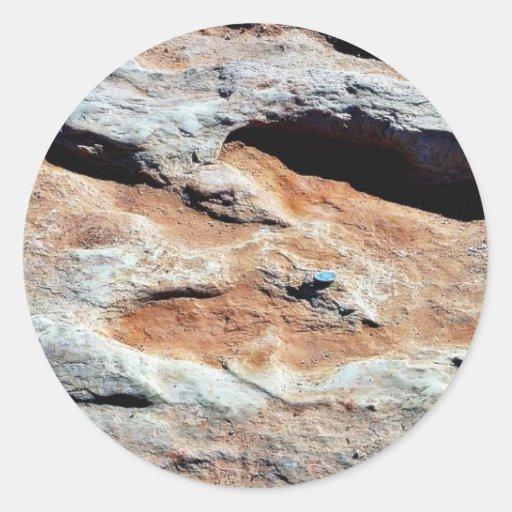 Dinosaur Tracks North Of Flagstaff Classic Round Sticker
