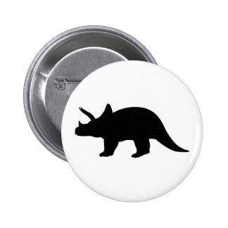 Dinosaur triceratops 2 inch round button