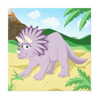 Dinosaur Triceratops Canvas Print