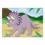 Dinosaur Triceratops Card