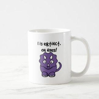 Dinosaur Triceratops Cartoon Illustration Coffee Mug
