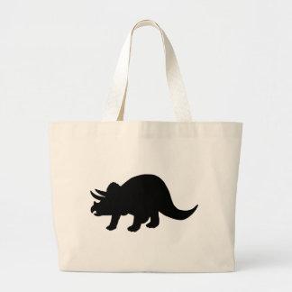 Dinosaur - Triceratops Large Tote Bag