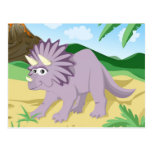 Dinosaur Triceratops Postcard