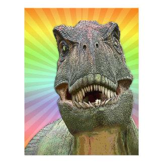 Dinosaur Tyrannosaurus rex Letterhead