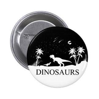 Dinosaur Under The Stars 2 Inch Round Button
