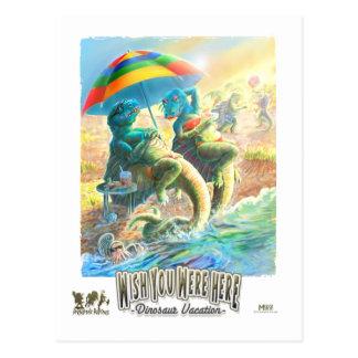 Dinosaur Vacation Post Card
