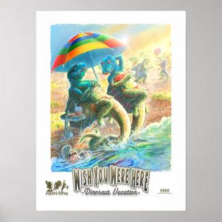 Dinosaur Vacation Poster