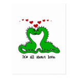 Dinosaur Valentine Love Tshirts and Gifts Postcard