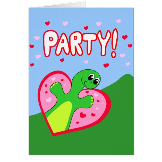 Dinosaur Valentine's Day Party Invitation