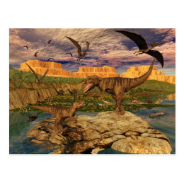 Dinosaur valley postcard