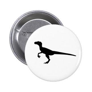 Dinosaur velociraptor 2 inch round button