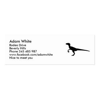Dinosaur velociraptor mini business card