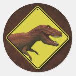 Dinosaur Warning Sticker
