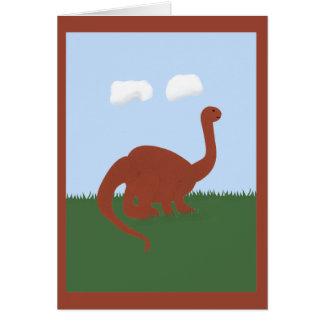 Dinosaur Whimsical Cartoon Art Greeting Cards