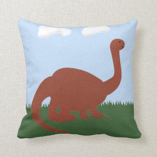 Dinosaur Whimsical Cartoon Art Throw Pillow
